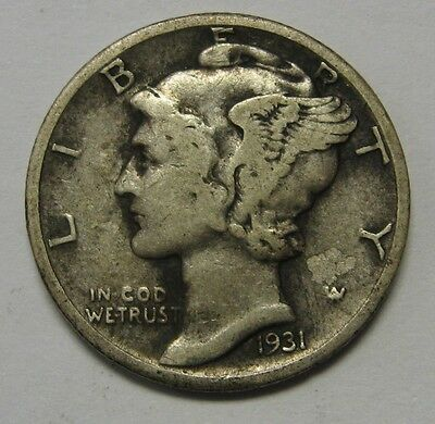 1931 Mercury Head Silver Dime Grading in the VG/FINE Range Nice Original Coins