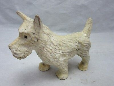 White composite scotty dog figurine. Terrier? Made in Germany