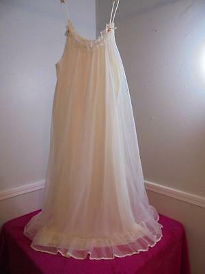 Vintage Tosca Bridal White Long Nightgown #6720 Size M
