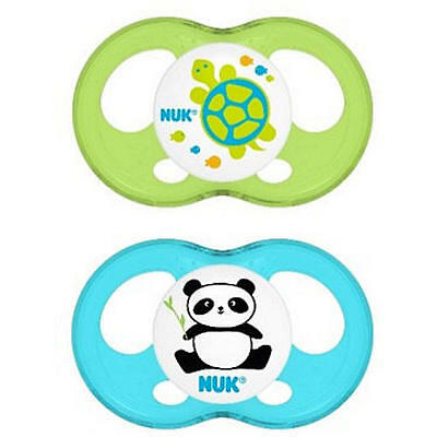 NUK Breeze Orthodontic 0-6 Month 2 Pack Pacifiers - Boy