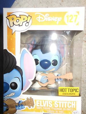 Elvis Stitch Pop DISNEY LILO & STICH hot topic exclusive vinyl action figure toy