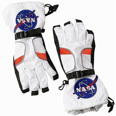 Astronaut Gloves Kids Costume Accessory NASA Spaceman Halloween Fancy Dress