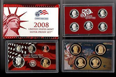 2008 S United States Silver Proof Set in the Original Gov't Packaging with COA