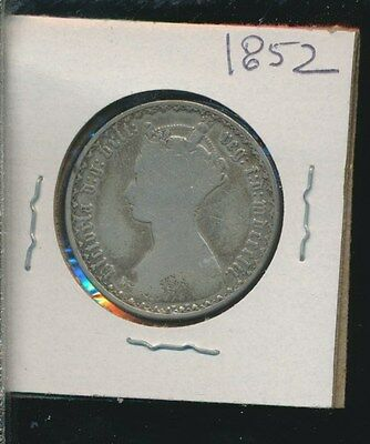 Great Britain  - Silver Florin - Gothic 1852