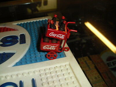 minature coca cola carrier with cases and bottles advertising