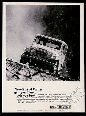 1970 Toyota Land Cruiser LandCruiser photo Gets You There & Back print ad