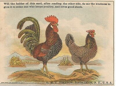 Practical Poultry Keeping Book Victorian Trade Card c1880
