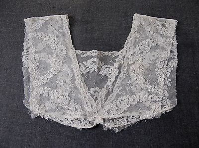Antique Flowers & Leaves Tulle Lace Bride Collar     7793 D