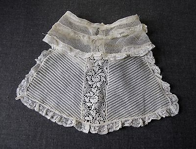 Antique Flowers & Leaves Tulle Lace Collar  Jabot  7793 F
