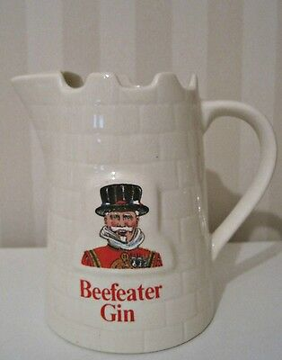 Vintage Beefeater Gin Castle Style Pub Jug Pitcher By Wade England Man Cave