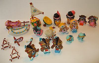 Lot of Hanna Barbera Native American Themed Paw-Paws Bears and Acces.Over 30 pcs