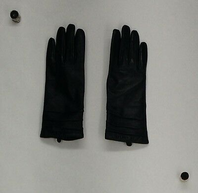 Excelled Gloves Size M Lambskin Leather Cashmere Lined Gloves Black NEW