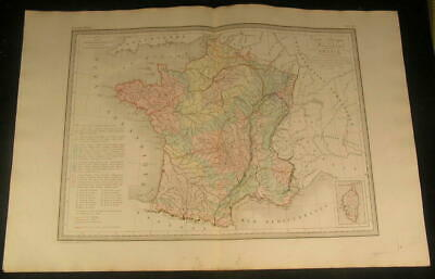 Physical & Mineralogical View France Brittany 1846 antique engraved color map