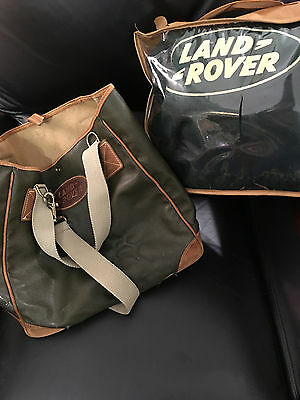 Vintage Land Rover Blanket (Never Used) From 1990's And Tote Bag From 2000
