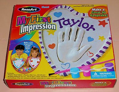 Roseart My First Impressions Child Baby Hand Foot 3D Heart Art Craft Paint  Kit