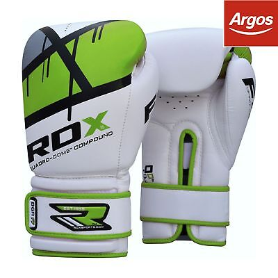 RDX Synthetic Leather 12oz Boxing Gloves - Green.