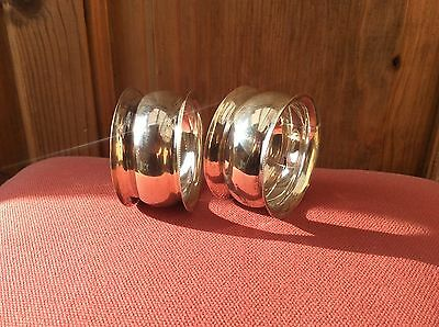 Pair sterling silver, chester hallmark Napkin rings
