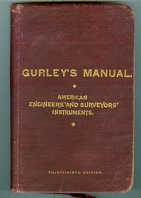 1906 Gurley's Manual for Engineer's & Surveyor's Instruments