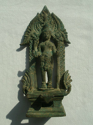 Old Shiva Lingam Statue with a standing Shiva from Cambodia