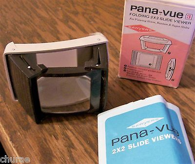 VINTAGE PANA-VUE folding 2 x 2 SLIDE VIEWER WITH INSTRUCTIONS