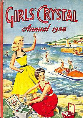 Girl's Crystal Annual 1958, Acceptable Condition Book, Girls Crystal Annual, ISB