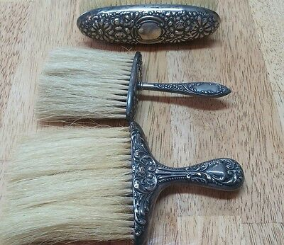 Antique Sterling Silver Vanity Set Brushes