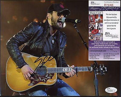Eric Church Singer Signed 8x10 Photo JSA COA AUTO Autograph
