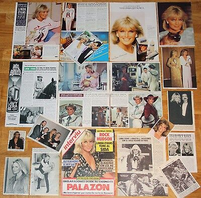 LINDA EVANS spain clippings 1980s photos Dynasty TV Series magazine articles