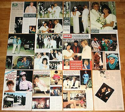 JOAN COLLINS spain clippings 1980s photos Dynasty TV Series magazine articles