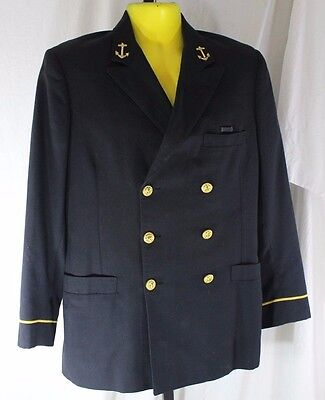 Vintage U.S. Navy Midshipmen's Dress Blue Jacket Naval Academy Annapolis Cadet