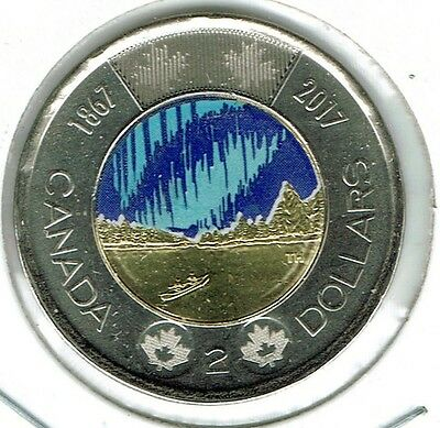 2017 Canadian Brilliant Uncirculated Commemorative Colored Two Dollar Coin!