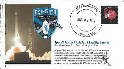 2014 SpaceX Falcon 9 AsiaSat-8 Satellite Launch Cape Canaveral 5 August