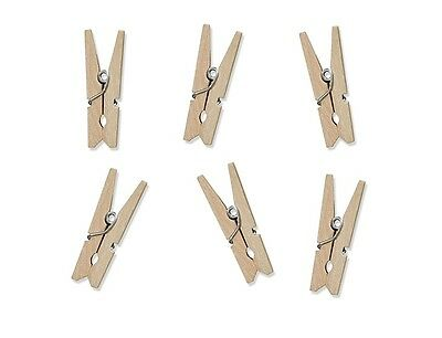 100 Stk Wooden braces nature 3cm Decor Pegs Mini pegs Wedding Gifts for guests