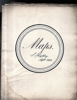 dated 1842 : 22 hand drawn and coloured atlas / map book signed by S Highley