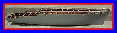 Large Old Antique 46.5 Wood Wooden Ship Boatbuilder's Model  Hull Nautical Decor