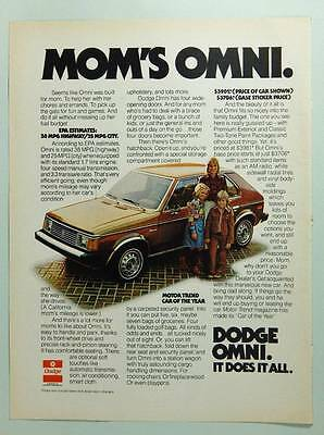 Dodge Omni - 1977 Vintage Magazine Ad Page - Automobile Advertising