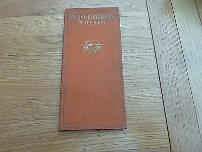 Vintage Relief Panorama Of The Rhine Colour Illustrated Map Original Hardback