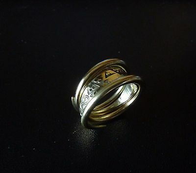 Ancient Viking  Bronze Twisted Ring (1208) .
