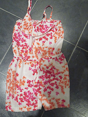 Next girls summer pink floral playsuit 5 years