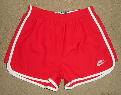 Vtg 80s NIKE Running GYM Shorts * RED * Cotton blend RUN Workout Mens USA NEW Md