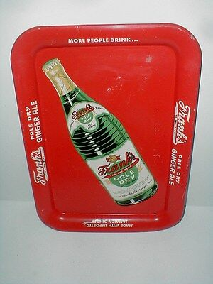 Philadelphia FRANK'S PALE DRY GINGER ALE Soda Pop Tin Metal Advertising Tray