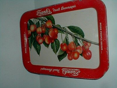 Philadelphia FRANK'S Fruit Beverage Soda Pop Tin Metal Advertising Tray 1940s