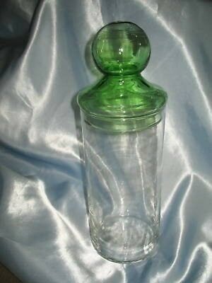 Kitchen Counter Clear Glass Pasta Spaghetti Storage Jar/Canister Green Ball Lid