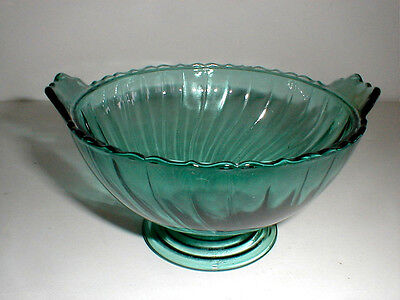 Jeannette Depression Glass Ultramarine PETAL SWIRL Candy Dish Bottom Base Rare
