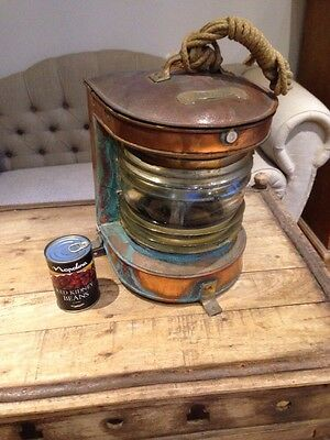 Vintage ships masthead lamp light large copper