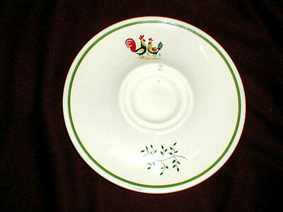 Eastern China/Steubenville Rooster FAMILY AFFAIR Gravy Boat Underplate (loc-X22)