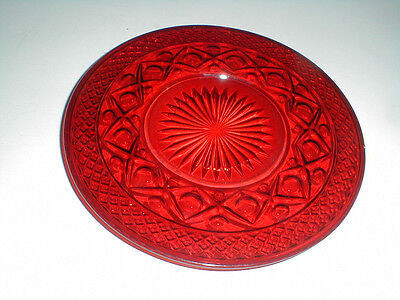 """Imperial Ruby Glass CAPE COD 8"""" Salad Plate/s Rare"""
