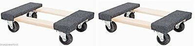 "2 Piece Furniture Moving Dolly 12""x18"" Movers Heavy Duty Caster Appliance"