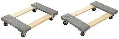 "2PC Hardwood Carpet End Furniture Mover's Dolly 3"" Casters 1000 lb.  30""x18-1/2"""
