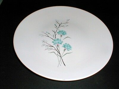 Taylor Smith Taylor Taylorstone Blue Flower FLORAL Dinner Plate/s (loc-X14)